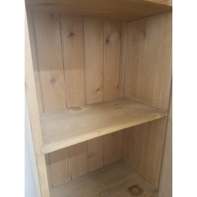 Antique English Pine Tall Cupboard For Sale - Image 11 of 13
