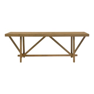 Custom Reclaimed Wood Buttress Console For Sale