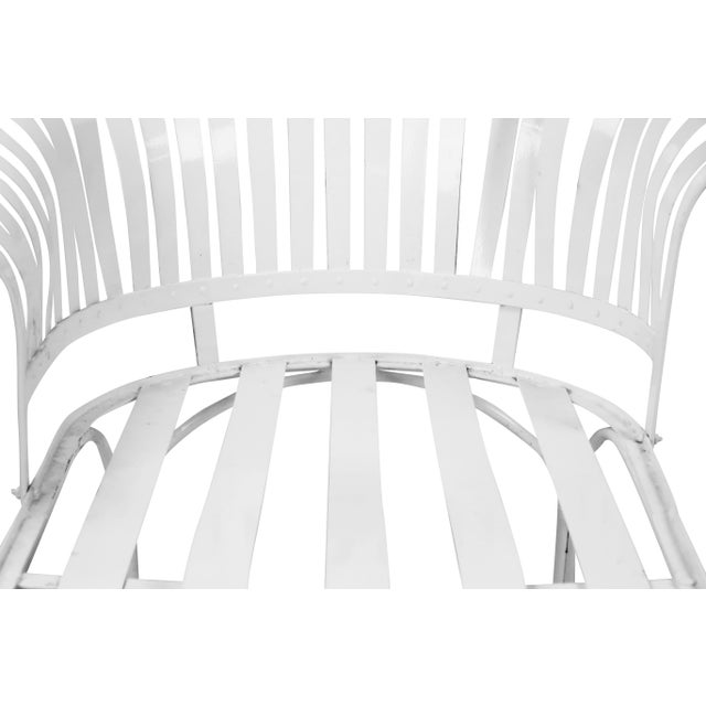 Francois Carre Vintage Fan Back Patio Chaise Lounge For Sale - Image 5 of 11