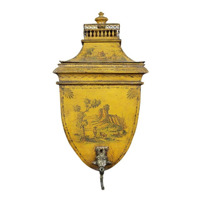 French Empire Yellow Tole Lavabo For Sale In Boston - Image 6 of 7