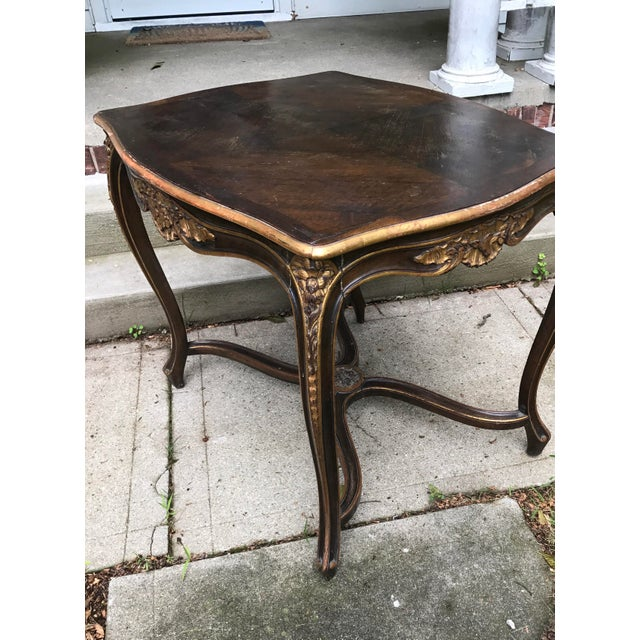 Antique Louis IV French Rococo Console Entry Table For Sale - Image 4 of 11
