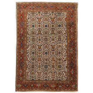 "Antique Sultanabad Rug, 8'9"" X 12'8"" For Sale"