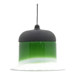 Green Glass Pendant by Putzler, Germany, 1960s For Sale