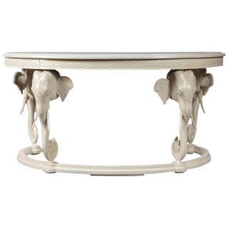 1970s Figurative Gampel Stoll Curved Elephant Writing Desk For Sale