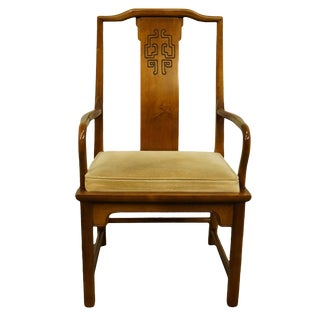 Century Furniture Chin Hua Collection Asian Inspired Dining Arm Chair For Sale