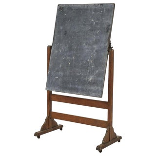 Chalkboard on Stand With Hinge For Sale
