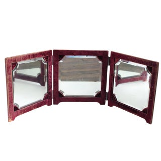 Victorian Tri-Fold Vanity Mirror For Sale