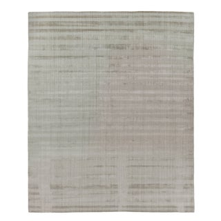 """Iscar Hand loom Wool/Viscose Mineral Rug-6'x9"""" For Sale"""