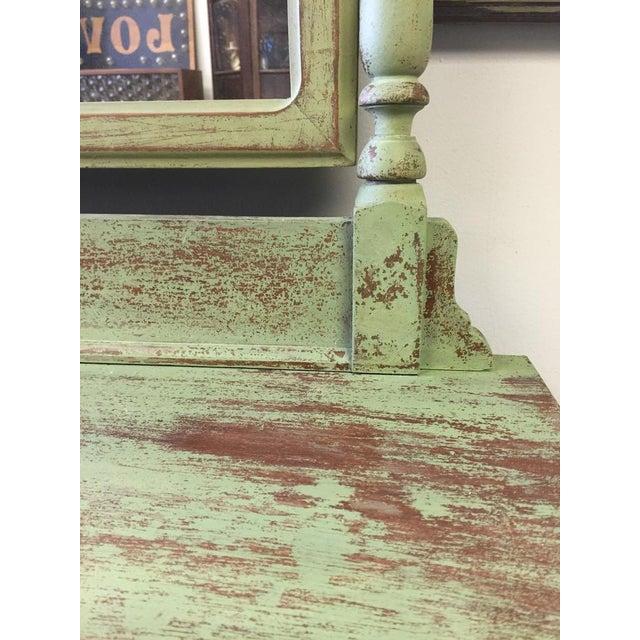 4-Drawer Green Distressed Dresser - Image 4 of 4