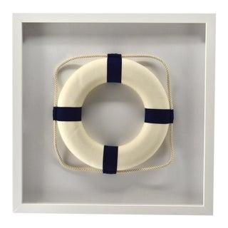 Framed Blue & White Life Ring For Sale