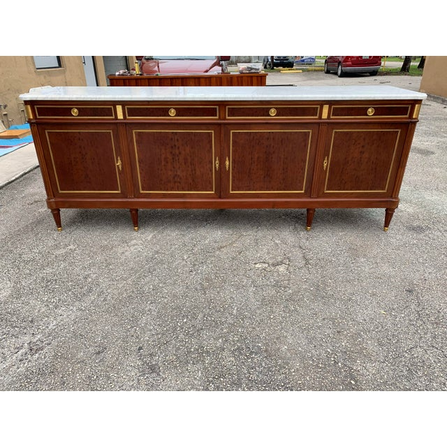 1910s French Louis XVI Antique Mahogany Sideboard For Sale - Image 13 of 13