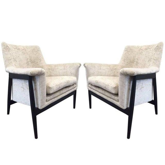 Pair of Danish Modern Lounge Chairs Ib Kofod Larsen - Image 7 of 7
