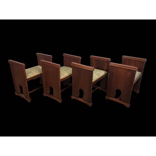 Set of Four Modernist Rectangular Upholstered Window Benches With Arms Preview