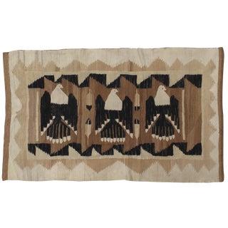20th Century Navajo Handmade Wool Carpet - 4x6'8 For Sale
