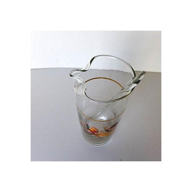Vintage Pheasant Cocktail Pitcher & Stirrer For Sale - Image 4 of 6