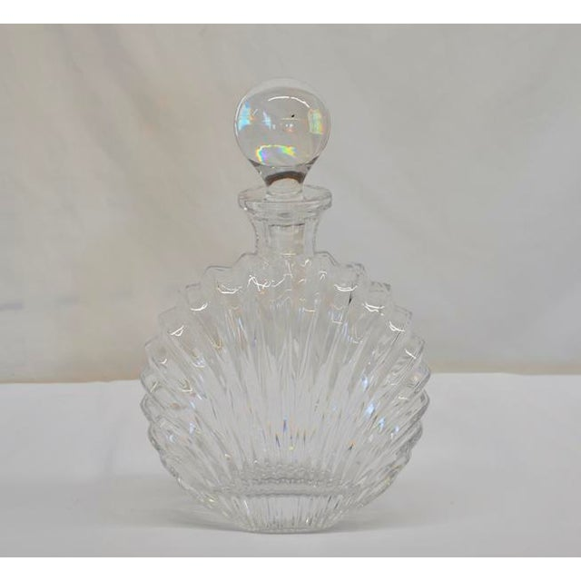 Shell Design Glass Decanter For Sale - Image 4 of 5