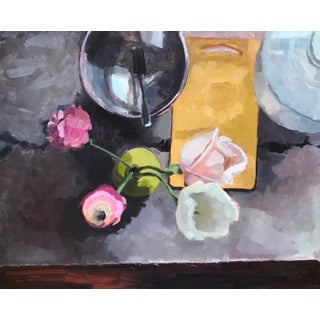 """""""Kitchen Still Life with Fork & Bowl"""" Original Oil Painting Preview"""