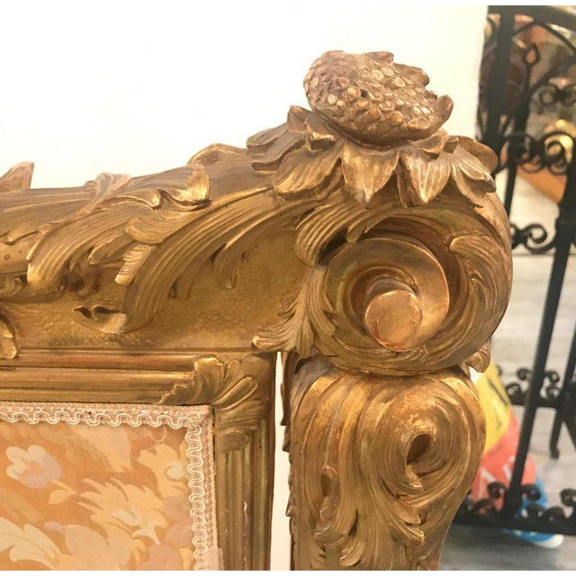Antique Louis XV Style French Fire Screen For Sale - Image 9 of 13