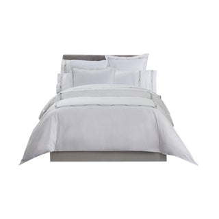 Saint-Tropez Embroidered Duvet Cover King - Sky/Mercury For Sale