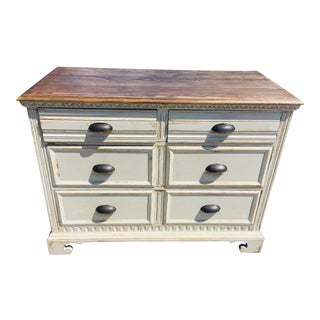 Vintage Shabby Chic Oak Chest of Drawers For Sale
