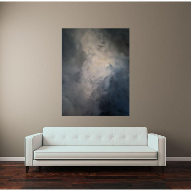 "Kris Gould ""Whispering Clouds"" Original Abstract Painting - Image 4 of 5"