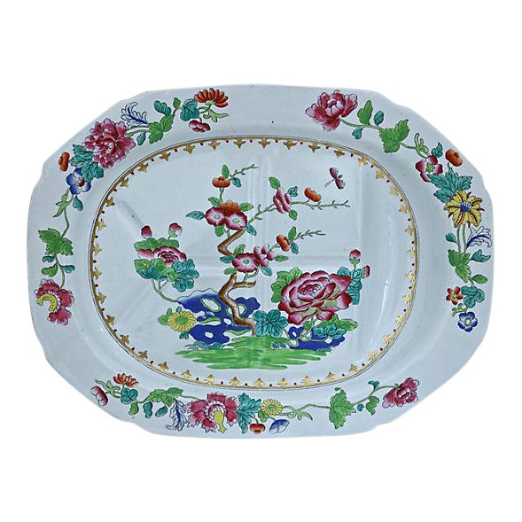 Spode Indian Tree Meat Draining Platter For Sale