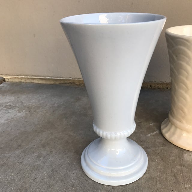 Mid-Century Modern Vintage Ceramic Vases - A Pair For Sale - Image 3 of 8