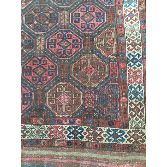 "Antique Tribal Rug 6'10"" X 3'5"" - Image 6 of 8"