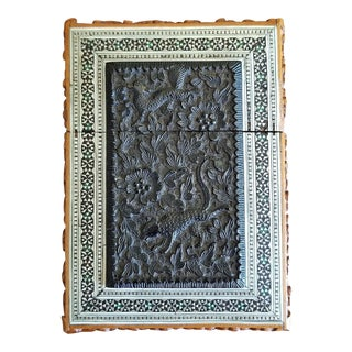 19th Century Vintage Anglo Indian Sadeli Mosaic Calling Card Case For Sale