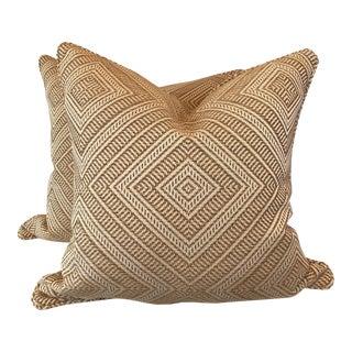 """Schumacher """"Tortola """" 22"""" Pillows - A Pair"""
