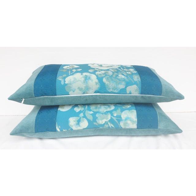 Blue Japanese Obi Pilows - A Pair - Image 4 of 4