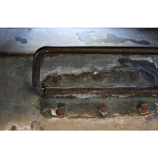 Vintage Green Metal Toolbox - Image 4 of 4