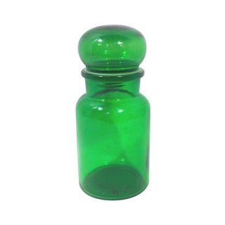 Emerald Green Glass Belgian Apothecary Jar