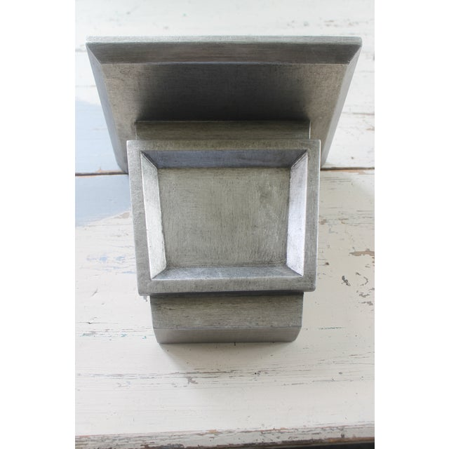 Asian Asian Modern Port 68 Jonathan Silver Leaf Wall Brackets - a Pair For Sale - Image 3 of 11