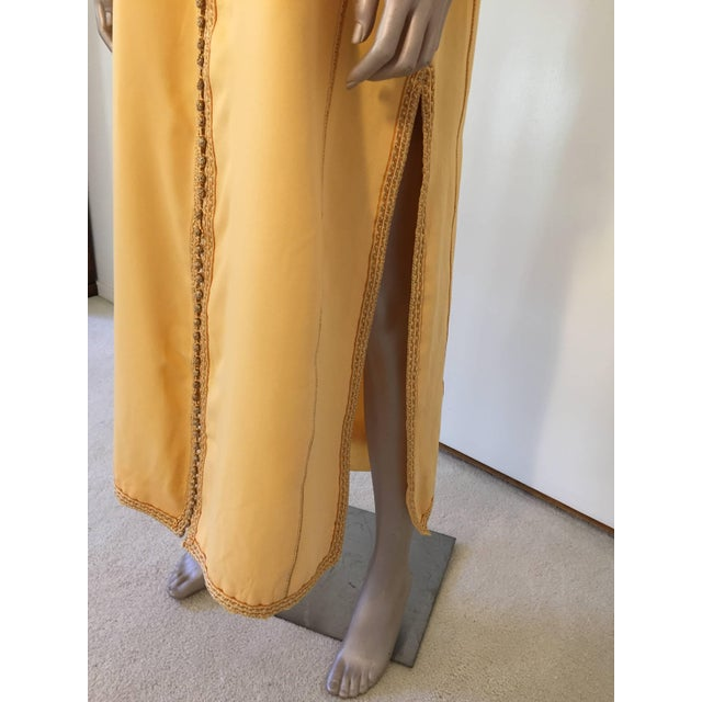 Metal Moroccan Vintage Yellow Gold Caftan For Sale - Image 7 of 10