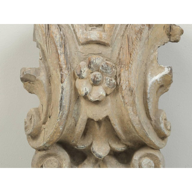 Late 18th Century Antique Italian Carved Decorative Architectural Element For Sale - Image 5 of 10