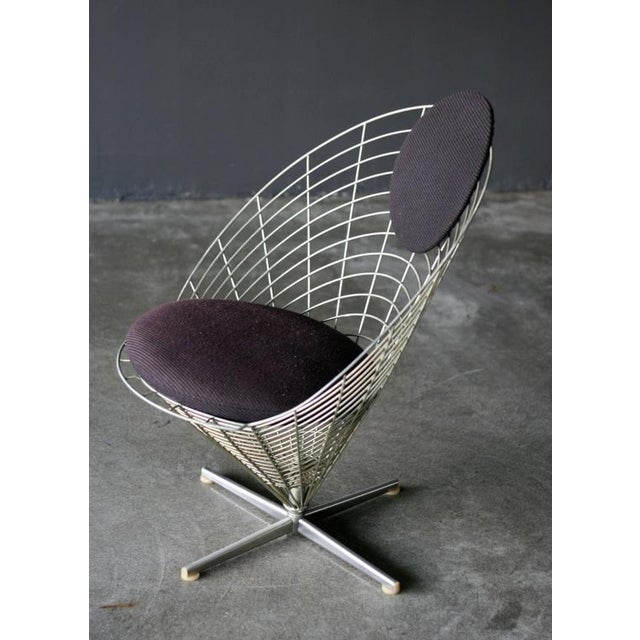 Verner Panton Wire Cone Lounge Chair by Verner Panton for Plus Ligne For Sale - Image 4 of 8