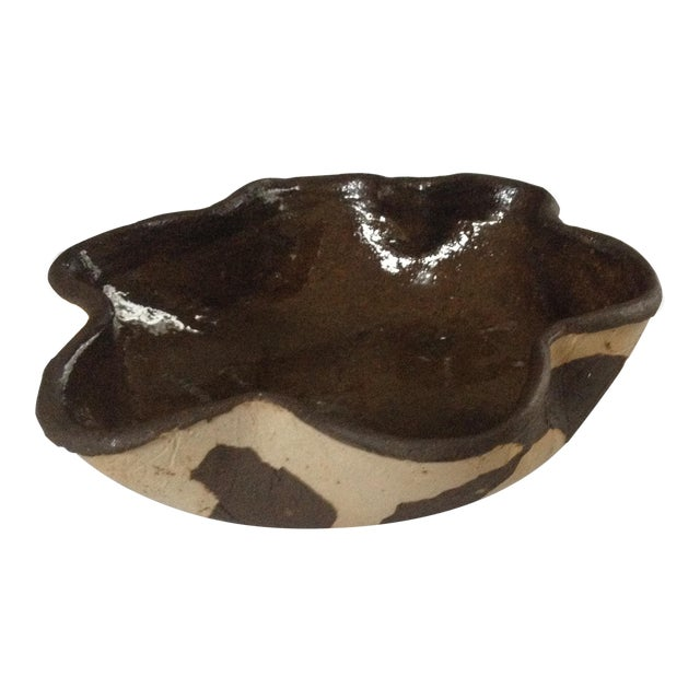 Patterned Handmade Pottery Bowl - Image 1 of 4
