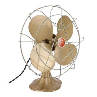 """Circa 1941 Emerson Junior Model 2650f 10"""" Oscillator Electric Desk Fan For Sale"""