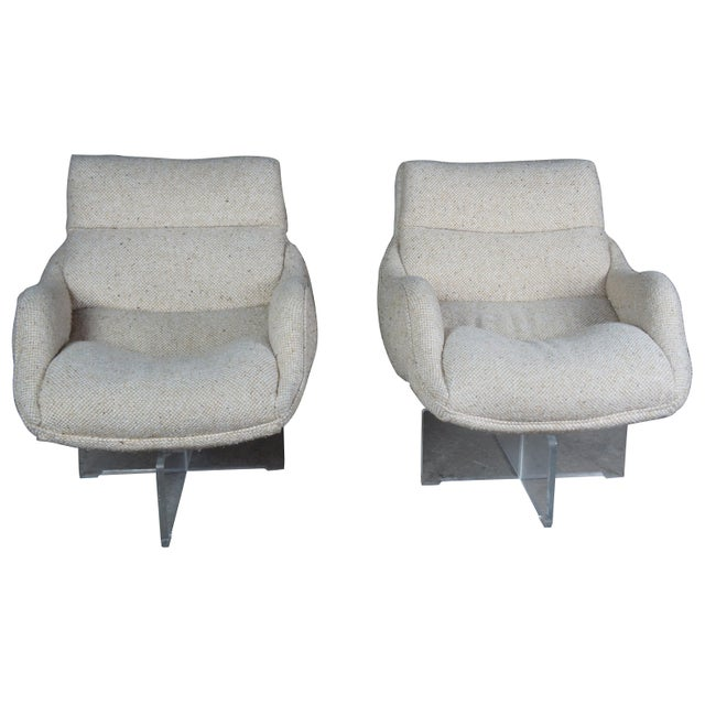 Mid-Century Modern 1960s Vladimir Kagan Cosmos Lounge Chairs- A Pair For Sale - Image 3 of 13