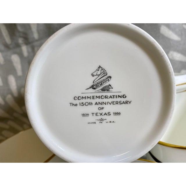 1980s 1986 Vintage Longhorn Steer & Star Boehm Mugs - Set of 4 For Sale - Image 5 of 12