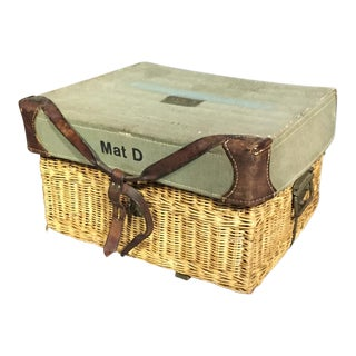 Vintage Swiss Army Military Basket, 1940s, Switzerland For Sale