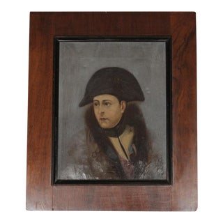 Late 19th Century Vintage Napoleon Oil Painting For Sale