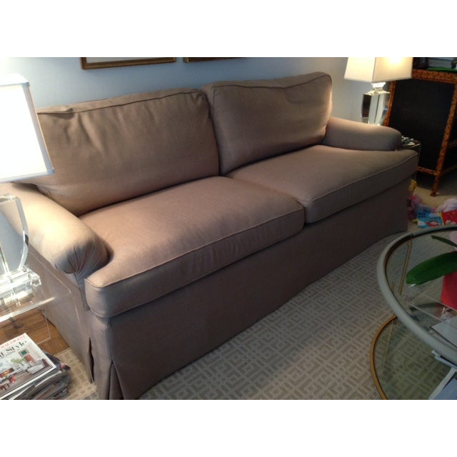 Newly Reupholstered Linen Sofa - Image 4 of 7