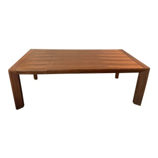 European Walnut Dining Table W Extension For Sale