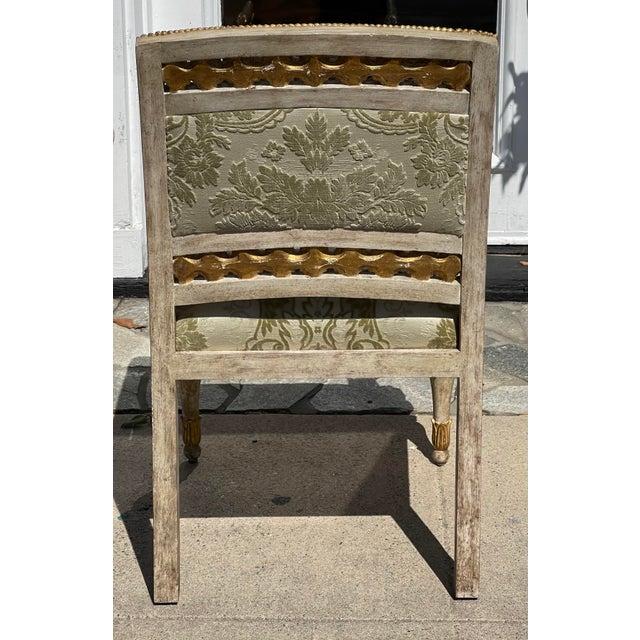 Dessin Fournir Dessin Fournir - Quatrain Piedmontese Style Pierced Carved Chair For Sale - Image 4 of 6