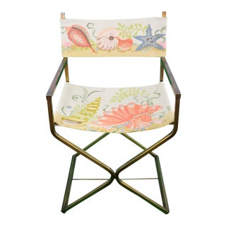 Seashell Needlepoint Director's Chair For Sale