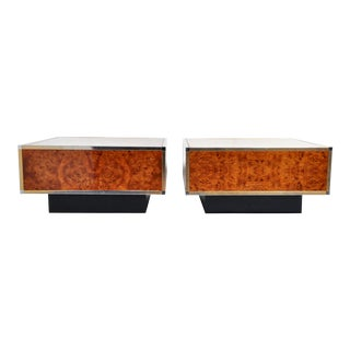 1930s Art Deco Burl Wood Venner Cubed Coffee Table For Sale