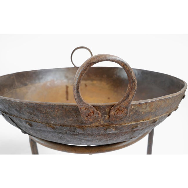 "Rustic Iron Kadai Bowl 16""-19"" For Sale - Image 3 of 6"