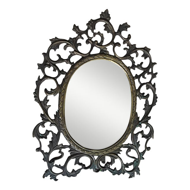 Silvestri Brass Table Mirror - Image 1 of 10